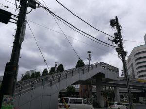 川口駅前の階段