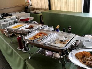 アパホテルの朝食バイキング