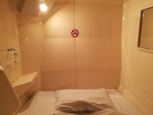 プライベートキャビンのベッド