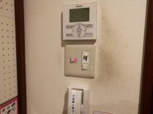 エアコンと証明スイッチ