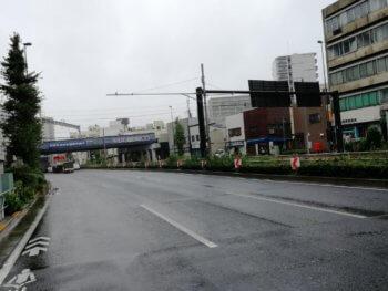 千住大橋駅付近の国道4号
