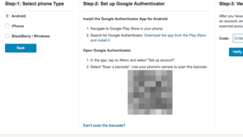 Google AuthenticatorのQRコード
