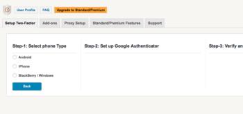 Google Authenticatorの設定
