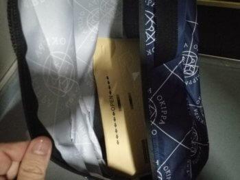 amazonの製品が入ったOKIPPAバッグ