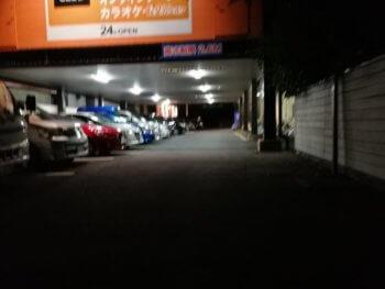 上福岡店のお店側の駐車場