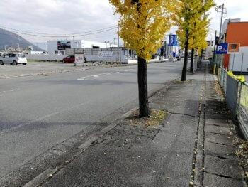 甲府上阿原店の周辺道路