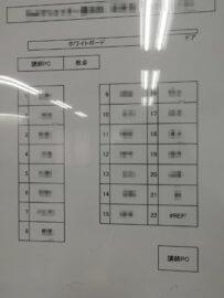 職業訓練校の座席表